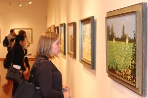 Students and faculty view paintings by Carroll Cloar in the Leu Art Gallery Art historian and writer Richard Gruber gives a lecture on paintings, lithographs and drawings by the late Carroll Cloar followed by a 5-7 p.m. reception. The exhibit is open April 2-May 24.