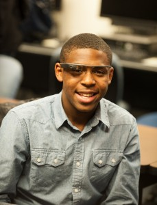 Kristoff Hart tries out Google Glass.