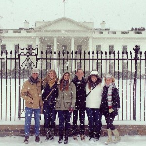 Student group sightseeing in Washington D.C.