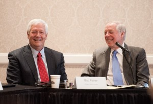 Belmont President Bob Fisher and former Tennessee Gov. Phil Bredesen participated on Tuesday's panel.