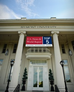 Photo of Top 5 Banner on Freeman Hall